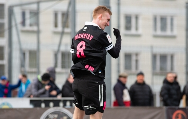 Homutov tegi Premium liiga avavoorus Narva Transi vastu skoori. Foto: Liisi Troska