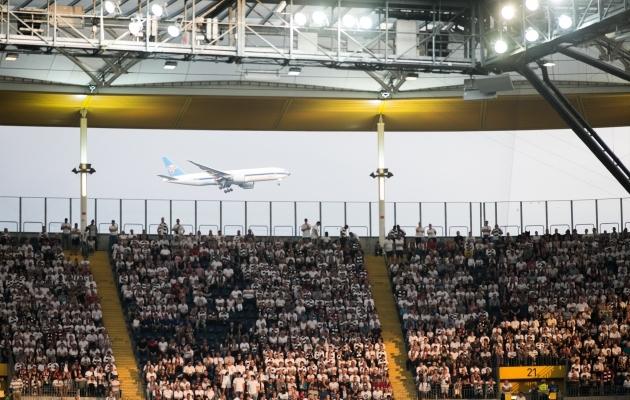 Enne koroonaviirust olid lennukid taevas ja rahvas tribüünidel. Foto: Brit Maria Tael