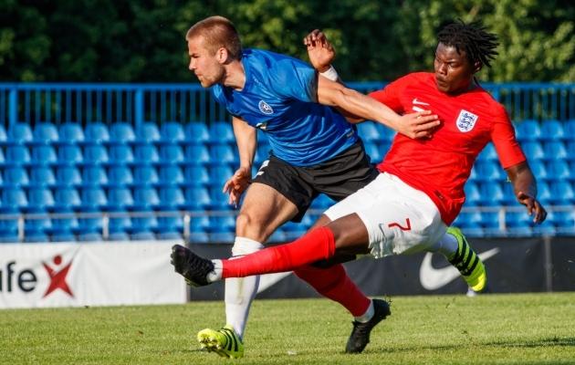 Juunis 2019 esindas Grauberg Eesti U23 koondist Inglismaa vastu. Foto: Oliver Tsupsman
