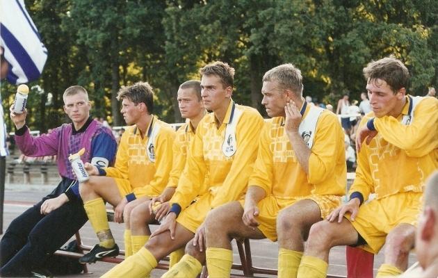Alates vasakult: Ain Tammus, Marko Lelov, Jan Õun, Alari Lell, Gert Olesk ja Teet Allas. Foto: Viljandi JK Tulevik
