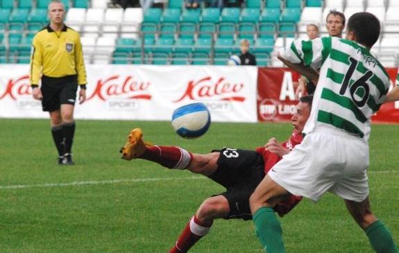 Aasta 2008 ja vastasteks Flora ning Trans. Foto: Soccernet.ee (arhiiv)