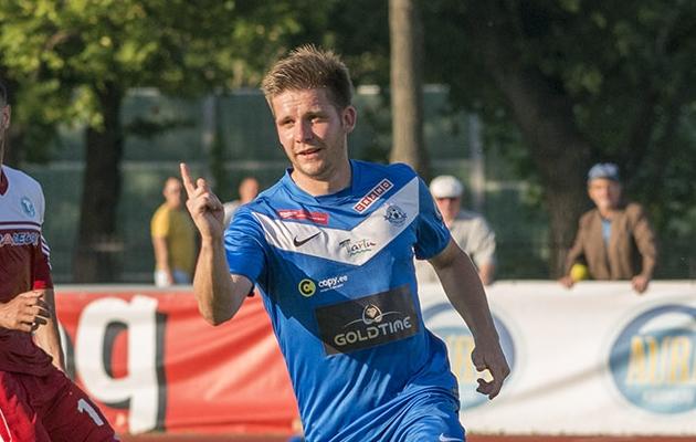 Kristjan Tiirik on Tartu Tammeka kõigi aegade resultatiivseim mängija. Foto: Soccernet.ee arhiiv