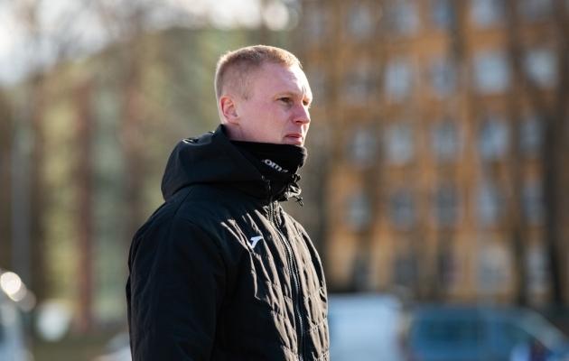 Viljandi Tuleviku peatreener Sander Post. Foto: Liisi Troska / jalgpall.ee