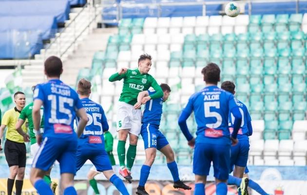 Tartu Tammeka võitles mehiselt ja teenis mängust FC Floraga 0:0 viigi. Foto: Jana Pipar / jalgpall.ee