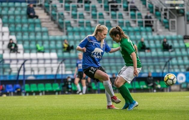 Laupäeval superkarikafinaalis kohtunud Flora ja Kalevi naiskondade madinaid saab Soccernet TV-s näha sel aastal veel mitu korda. Foto: Brit Maria Tael