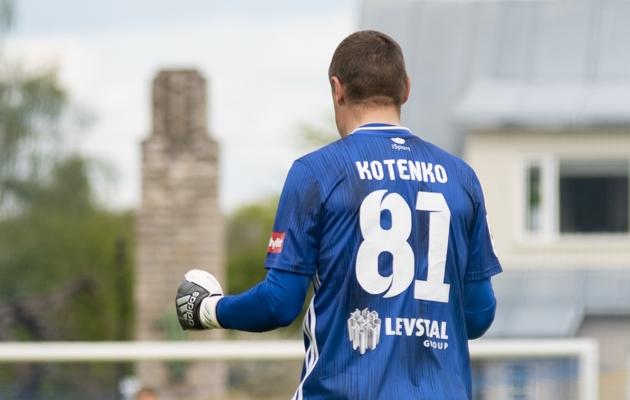 FCI Levadia väravavaht Artur Kotenko. Foto: Liisi Troska / jalgpall.ee