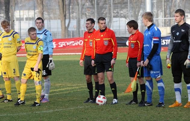 Boriss Dugani (kaptenipaelaga) rekordimäng Tartu Tammeka vastu. Foto: Rein Murakas