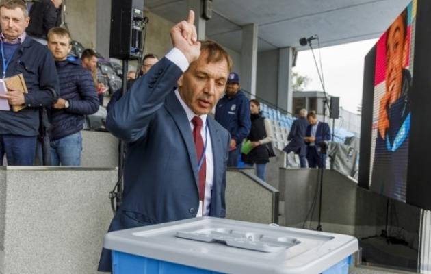 2016. aastast Eesti Olümpiakomiteed (EOK) juhtinud Urmas Sõõrumaa pälvis üldkogult uue nelja-aastase mandaadi. Foto: Karli Saul/EOK