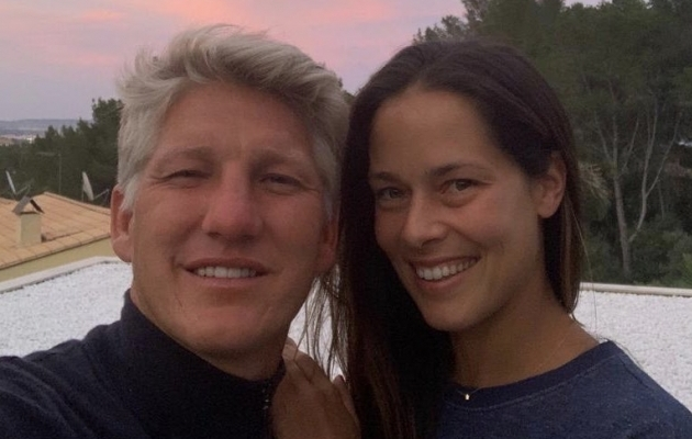 Kuulus spordipaar: Schweinsteiger on abielus Prantsusmaa lahtiste tennisemeistrivõistluste võitja ja endise maailma esireketi Ana Ivanoviciga. Foto: Bastian Schweinsteigeri Twitter