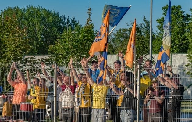 FC Kuressaare fännid laupäevasel kohtumisel. Foto: Allan Mehik