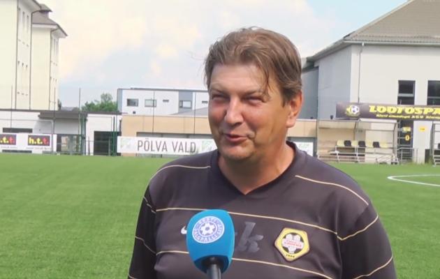 Põlva Lootose peatreener Kaido-Meinhard Kukli. Foto: Soccernet.ee