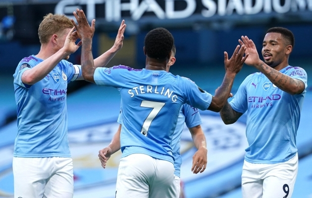 Manchester City purustas Liverpooli 4:0. Foto: Manchester City Twitter