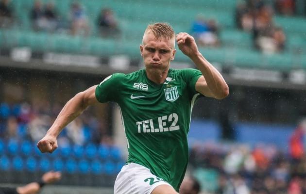 FC Flora keskkaitsja Henrik Pürg. Foto: Jana Pipar / jalgpall.ee