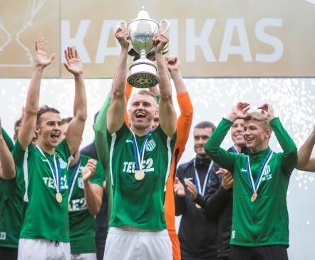 Luup peale | Flora kehtestas Eesti tippjalgpallis totaalse rohevalge võimu  (galerii!)
