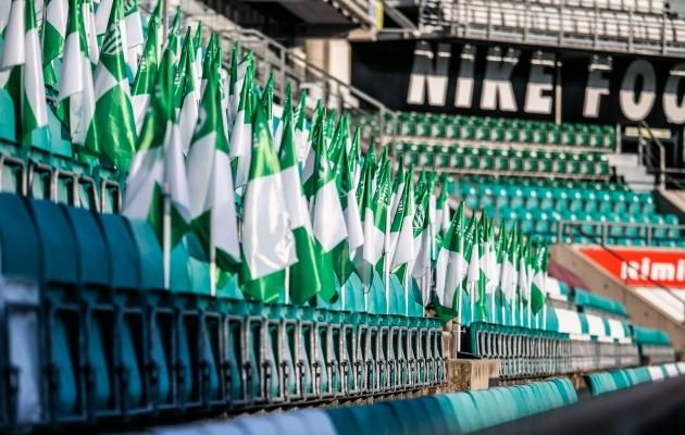 Kui loos ka Eesti klubisid soosib ja eurosarjas saadakse kodumäng, tuleb see pidada tühjade tribüünide ees. Foto: Brit Maria Tael