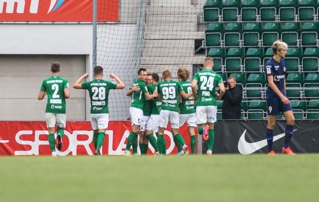 FC Flora on tänavu kolm põhirivaali ehk Paide, Levadia ja Kaljuga kohtunud kokku neli korda. Kõik mängud on võidetud. Foto: Jana Pipar / jalgpall.ee