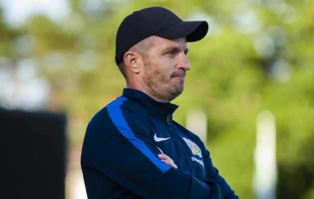 FC Kuressaare peatreener Roman Kožuhhovski. Foto: Liisi Troska / jalgpall.ee