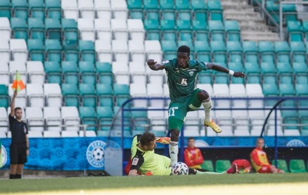 Manucho käis viimati FCI Levadia esindusmeeskonna eest platsil 18. juulil. Foto: Jana Pipar / jalgpall.ee