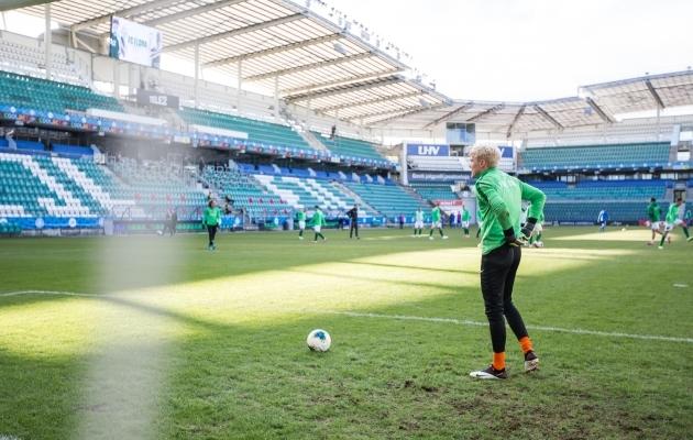 Valitsev meister Flora alustab Meistrite liigast ja on ainus, kellele garanteeritud kaks euromängu. Foto: Jana Pipar / jalgpall.ee