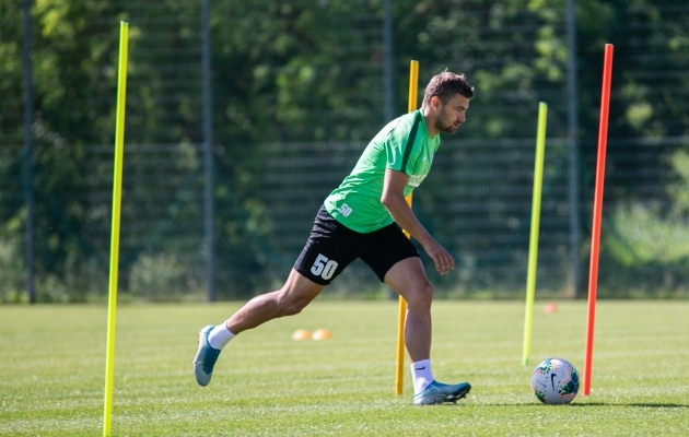 Ken Kallaste FC Flora kolmapäevasel treeningul. Foto: Brit Maria Tael