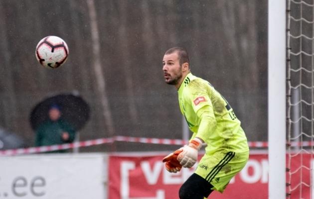 Väravavaht Sergei Lepmets. Foto: Liisi Troska / jalgpall.ee