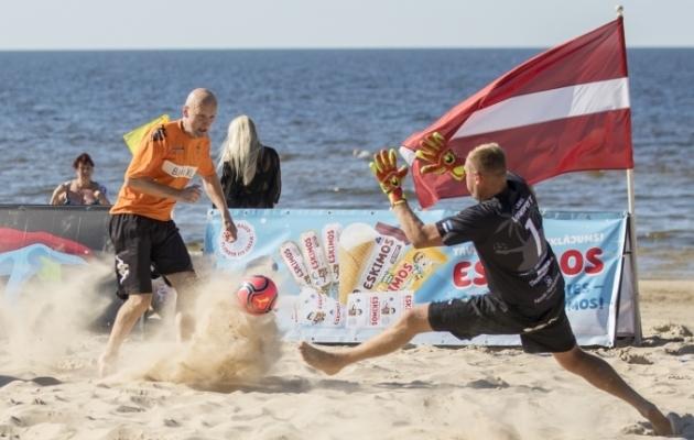 Coolbeti rannaliiga teine etapp mängiti 18. ja 19. juulil Jurmalas. Foto: Beach Soccer Latvia