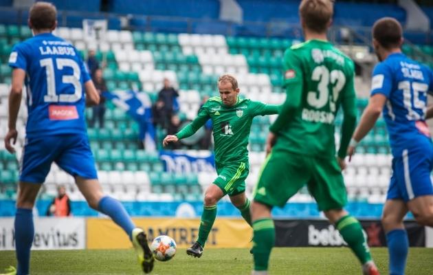 Mullu jäi Andrejevi saldosse Levadia eest 13 väravat. Foto: Jana Pipar / jalgpall.ee
