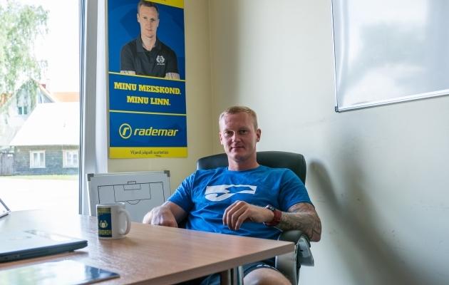 Viljandi Tuleviku peatreener Sander Post. Foto: Brit Maria Tael
