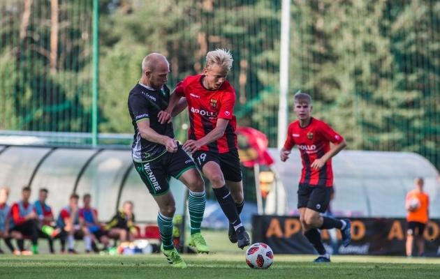 Nõmme United ja Vändra Vaprus leppisid sel hooajal teist korda viiki. Foto: Jana Pipar / jalgpall.ee