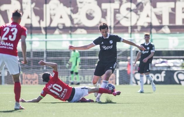 Amir Natho oli üleplatsimees. Foto: Jana Pipar / jalgpall.ee