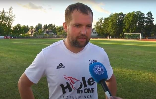 Keila JK mängiv peatreener Tiit Tikenberg. Foto: Soccernet.ee