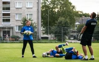 Galerii: Eesti koondis pani end aasta esimeseks kodumänguks valmis
