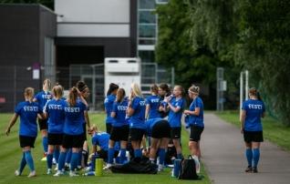 Eesti ja Läti naiste koondised läbisid tänase mängu eel koroonaviiruse testimise