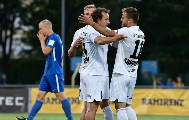 FC Flora klass oli Tammekale liig. Foto: Imre Pühvel