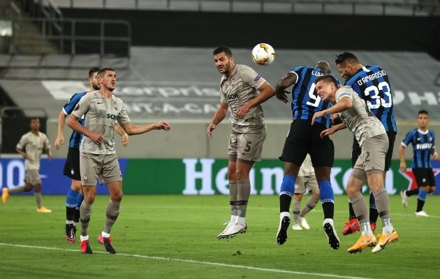 Siit lõi Danilo D'Ambrosio värava, mis viis Interi kohtumist 2:0 juhtima. Foto: Euroopa liiga Twitter