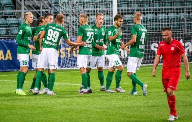 FC Flora kirjutas tabelisse hooaja 17. võidu. Foto: Janek Eslon