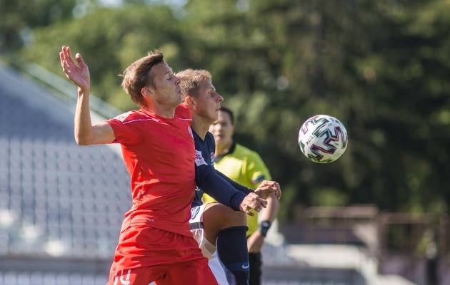 Dmitrijev näitas, et poolteist aastat pausi pole tasemel mehele midagi. Foto: Jana Pipar / jalgpall.ee