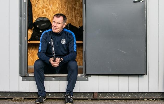 Eesti naiste jalgpallikoondise peatreener Jarmo Matikainen. Foto: Brit Maria Tael