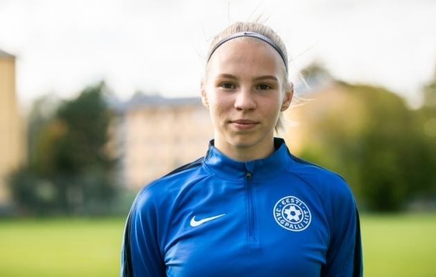 Eesti naiste koondise 17-aastane kaitsja Sandra Liir. Foto: Brit Maria Tael