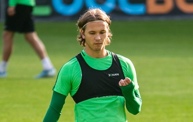 Mark Anders Lepik tänasel FC Flora treeningul. Foto: Brit Maria Tael