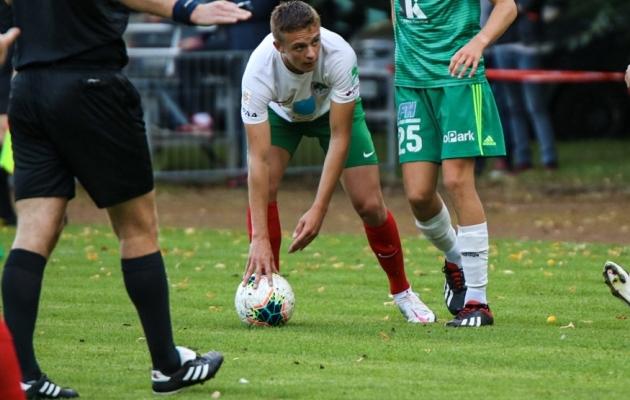 FC Elva jalgpallur Devid Lehter. Foto: Diana Jesin