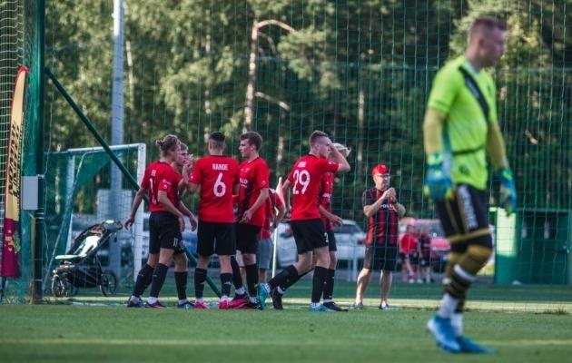 Nõmme United kaotas koduväljakul olulisi punkte. Foto: Jana Pipar / jalgpall.ee