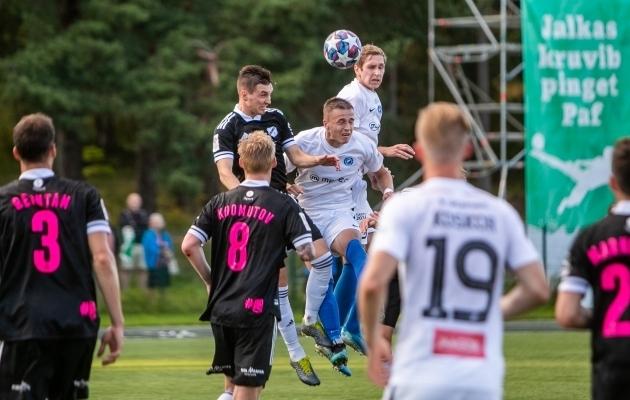 Nõmme Kalju ja Tartu Tammeka mängivad eeloleval mängunädalal kaks Premium liiga mängu. Omavahel minnakse vastamisi kolmapäeval. Foto: Gertrud Alatare