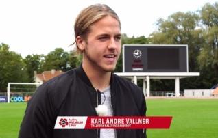 Karl Andre Vallner: mu eesmärk ei ole olla nõrgemas klubis põhiväravavaht, kel on hästi palju tööd