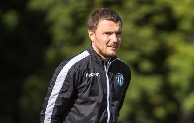 Tallinna Kalevi peatreener Dmitrijs Kalašnikovs. Foto: Jana Pipar / jalgpall.ee