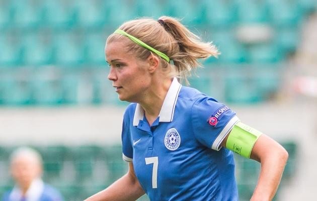 Eesti naiskonna kapten Katrin Loo. Foto: Jana Pipar / jalgpall.ee