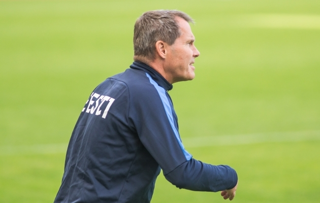Eesti naiste jalgpallikoondise peatreener Jarmo Matikainen. Foto: Jana Pipar / jalgpall.ee