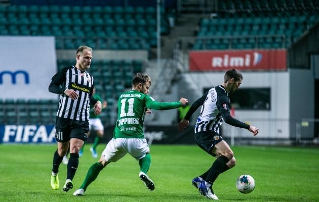 Euroopa liiga teises eelrngis alistas FC Flora kodus 2:1 Islandi meistri KR Reykjaviki. Foto: Brit Maria Tael