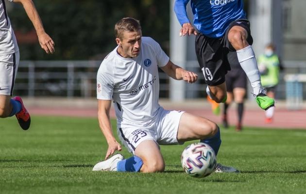 Igor Dudarev jagas enim täpseid sööte ja oli üks parimaid vaheltlõikajaid. Foto: Jana Pipar / jalgpall.ee