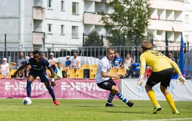 Paide Linnameeskonna ja Tallinna Kalevi eelmine kohtumine oli ühepoolne - Paide võitis 4:0. Foto: Liisi Troska / jalgpall.ee